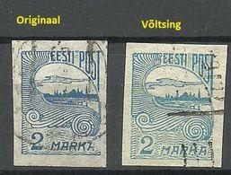 Estonia Estland 1920 Michel 17 Original + Fälschung/Fake/Faux For Study - Estonie