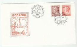 1980 LUXEMBOURG  RODANGE CERCLE PHILATELIQUE 35th Anniv EVENT COVER Stamps Philately Religion Fish - Luxembourg
