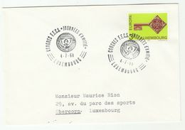 1968 LUXEMBOURG  SOROPTIMIST CONGRESS Event COVER Stamps EUROPA - Luxembourg