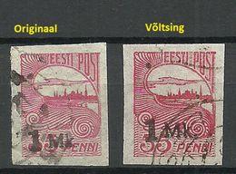 Estonia Estonie 1920 Tallinn Reval Michel 19 Original + Fälschung/Fake/Faux For Study - Estonie