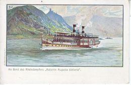 GERMANY  TO U.s. 1907  KAISERIN  AUGUSTA  VIKTORIA On  RHEIN - Germany