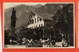 GBR-25  Brienz  Hotel Bären, Gartenterrasse. Belebt. Gelaufen Nach  Morez, Briefmarke Fehlt. - BE Berne
