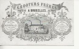 Carte Porcelaine Bruxelles-135x85-Bonneterie Luxe GROOTERS  FRERES - Publicités