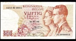 """50 FR Type """"1966"""" Koninklijk Paar    Emiel Kerstens - [ 6] Trésorerie"""