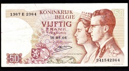 """50 FR Type """"1966"""" Koninklijk Paar    Emiel Kerstens - 50 Francs"""