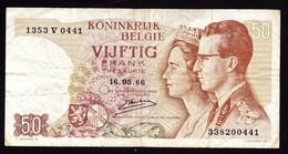 """50 FR Type """"1966"""" Koninklijk Paar    Emiel Kerstens - [ 6] Tesoreria"""