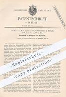 Original Patent - Schumacher & Albert Koch , Köln / Kalk , 1884 , Öl - Spritzkanne | Schmieröl , Maschinen , Schlosser - Historische Dokumente