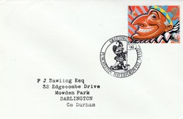 1990 Puncheston GB FDC  PUNCH PUPPET  Stamps SPECIAL Pmk Haverfordwest  Puppetry Theatre Cover - FDC
