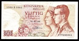 """50 FR Type """"1966"""" Koninklijk Paar   René Lauwerijns - [ 6] Staatskas"""