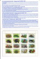 Christmas Island 1988 MNH Scott #211a Sheet Of 16 Wildlife Snake, Turtle, Bat - Christmas Island