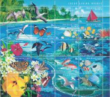 Cocos (Keeling) Islands 1999 MNH Scott #331 Sheet Of 20 5 Strips Of 4 Map, Fish, Butterflies Turtle - Cocos (Keeling) Islands