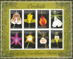 Dominica 1999 MNH Scott #2125 Sheet Of 8 $1 Orchids - Dominique (1978-...)