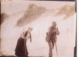Photo  Alpinisme Sur Le Glacier Piz D'Err  (Suisse), Architect Koch Et Elsa   Aôut 1906 - Places