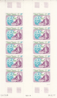 French Polynesia 1978 MNH Scott #C155 Complete Sheet Of 10 39fr Cook, 'Resolution' - Poste Aérienne