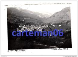 04 - Allos - 1942 - Photo Originale - Vue Générale - Format 9 X 6.2 Cm - Lieux