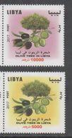 LIBYA, 2017, MNH, TREES, OLIVE TREES, 2v - Árboles