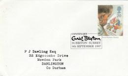 1997 Surbiton GB FDC  NODDY Enid Blyton Stamps SPECIAL Pmk  Literature Cover - FDC