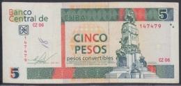 2011-BK-130 CUBA 5$ Cuc ANTONIO MACEO 2011 REPLACEMENT REEMPLAZO CZ SERIE. - Cuba