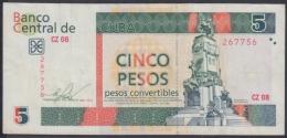 2013-BK-65 CUBA 5$ Cuc ANTONIO MACEO 2013 REPLACEMENT REEMPLAZO CZ SERIE. - Cuba