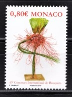 MONACO 2016 / Y.T. N° 3035 - CONCOURS INTERNATIONAL DE BOUQUETS  - NEUF ** - Nuovi