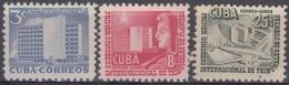 1953-220 CUBA REPUBLICA. 1953. Ed.563-65. CONGRESO DE TRIBUNALES DE CUENTAS. LIGERAS MANCHAS. - Cuba