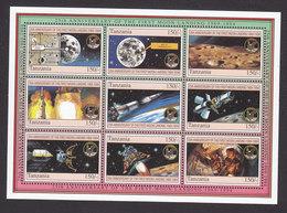 Tanzania, Scott #1247-1249, Mint Never Hinged, 25th Anniversary Of First Moon Landing, Issued 1994 - Tanzanie (1964-...)
