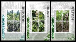 Caribbean Netherlands (Bonaire, Saba, St. Eustatius) 2018 Mih. 55/58 (Bl.12) Flora. Mist Forest MNH ** - Curazao, Antillas Holandesas, Aruba