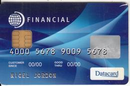 FRANCE - Datacard Financial Card, Sample - Geldkarten (Ablauf Min. 10 Jahre)