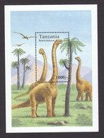 Tanzania, Scott #1252, Mint Never Hinged, Dinosaurs, Issued 1994 - Tanzania (1964-...)