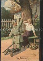 11550827 Kuenstlerkarte Die Atacke Soldat Aepfel Kuenstlerkarte - Ilustradores & Fotógrafos