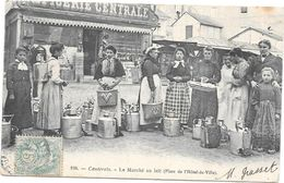 CAUTERETS - 65 - CPA DOS SIMPLE - Le Marché Au Lait Place De L'Hotel De Ville  - ROUIL1 - - Cauterets