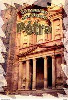 """Encart 1er Jour MILLENIUM De 2005 """" UNESCO 2005 MONUMENT DU DEIR A PETRA / JORDANIE """" N° YT SERV 133. Voir Les 2 Scans. - Documents De La Poste"""