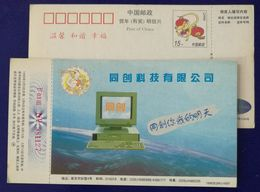 China 1996 Tongchang Computer Advertising Pre-stamped Card Personal Computer - Computers