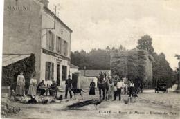 77 CLAYE - Route De Meaux - L'Entrée Du Pays - ELD - Très Animée - Claye Souilly