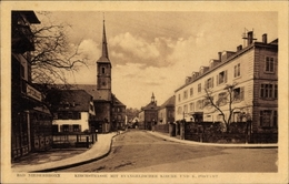 Cp Niederbronn Les Bains Bad Niederbrunnen Elsass Bas Rhin, Kirchstraße, Ev. Kirche, Postamt - Other Municipalities