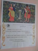 TELEGRAM Voor Fam. WOUTERS Kielpark Antwerpen (Merksem) Stamp 1964 Antwerpen Belgique - Belgium !! - Faire-part