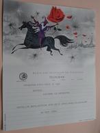 TELEGRAM Voor Fam. WOUTERS Kielpark Antwerpen (Istas) Stamp 1964 Antwerpen Belgique - Belgium !! - Faire-part