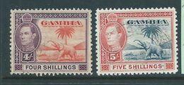 Gambia 1938 KGVI Elephant Definitives 4/- & 5/- FU - Gambie (...-1964)