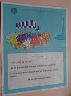 TELEGRAM Voor Fam. WOUTERS Kielpark Antwerpen (Blockx) Stamp 1964 Antwerpen Belgique - Belgium !! - Faire-part