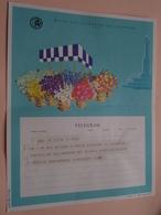 TELEGRAM Voor Fam. WOUTERS Kielpark Antwerpen (Vanoverbeke) Stamp 1964 Antwerpen Belgique - Belgium !! - Faire-part