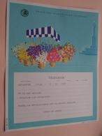 TELEGRAM Voor Fam. WOUTERS Kielpark Antwerpen (Ferdy&Angele) Stamp 1964 Antwerpen Belgique - Belgium !! - Faire-part