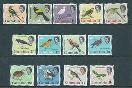 Gambia 1963 QEII Bird Definitives Set 13 MLH - Gambia (...-1964)