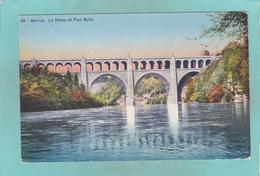 Small Post Card Of Le Rhone Et Pont Butin,Geneve,Geneva, Geneva, Switzerland,R43. - GE Geneva