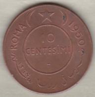 Somalie . 10 Centesimi 1950. Elephant . Copper. KM# 3 - Somalie