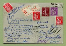Type  PI A1  : GRAFFIGNY-CHEMIN  Entier Recommandé Avec Retour à L'envoyeur 4308 - Postal Stamped Stationery