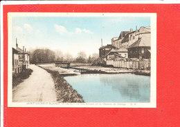 62 SAINT LAURENT BLANGY Cpa Ecluse Et Chemin De Hallage       Edit  GR - Saint Laurent Blangy