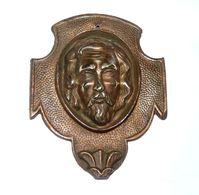 RARE ANCIENNE TETE DU CHRIST JESUS SCULPTURE PLAQUE RELIEF EN BRONZE - Bronzes