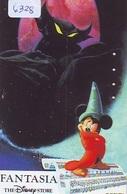 Télécarte Japon * 110-179339 * THE DISNEY STORE  (6328) MICKEY Magic Cinema * FANTASIA * Japan Phonecard * Tirage 5.000 - Disney