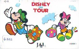 Télécarte  * DISNEY * Japon (110-158523) DISNEY ON TOUR  * JAL (6332) * JAPAN PHONECARD * - Disney