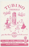 Buvard 13.3 X 21.2 THIRIEZ & CARTIER-BRESSON  Fils à Coudre Et Cotons  Tubino  Jeunes Filles Ronde - Textile & Clothing